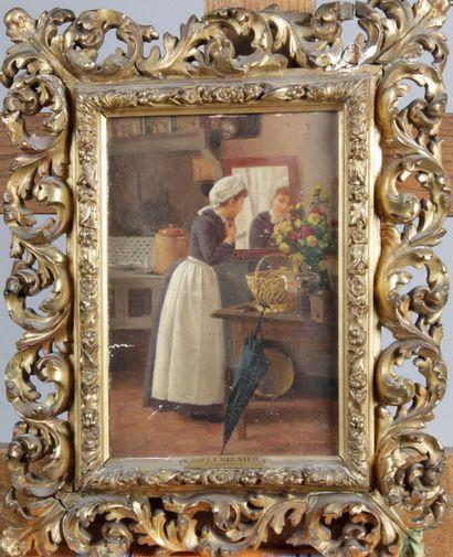Basile LEMEUNIER (1852-1922) « Coquetterie...