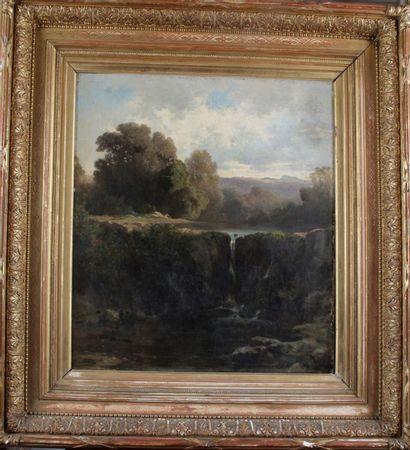 ACHILLE BENOUVILLE (FRA/ 1815-1891) Paysage...