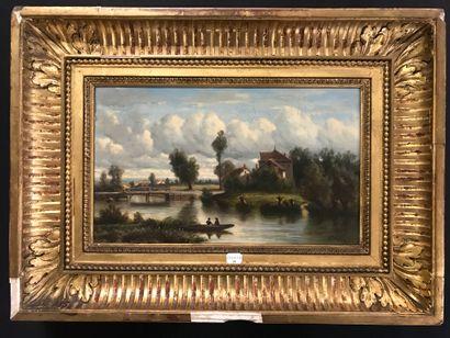 ECOLE FRANCAISE DU XIXe siècle  Paysage à...