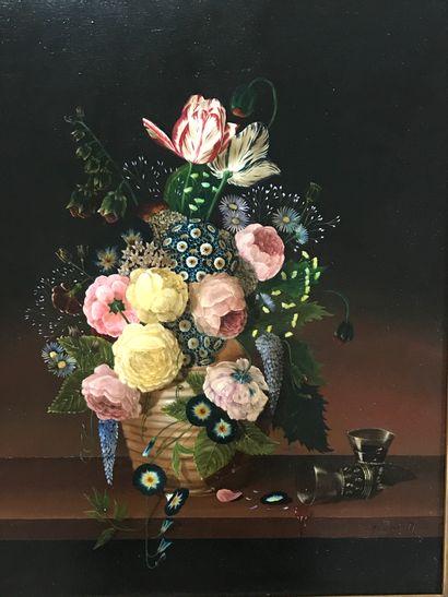 ECOLE FRANCAISE de XXe siècle  Bouquet de...
