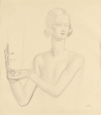 JEAN DUPAS (1882-1964) Etude de modèle au...