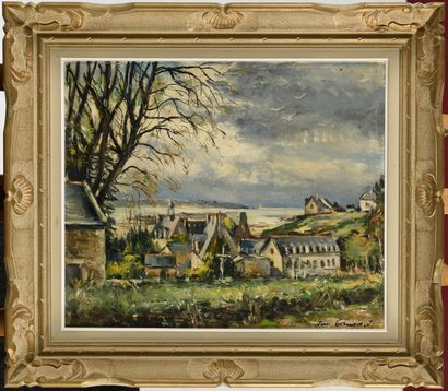 JEAN GERMAIN-JACOB (1900-?) Paysage de Bretagne...