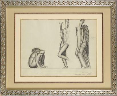 JEAN DUPAS (1882-1964) Etude pour l'Exposition...