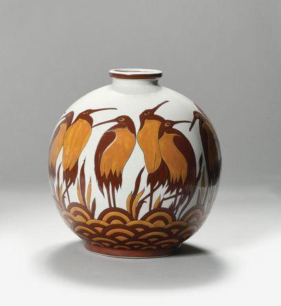 KERALOUVE (LA LOUVIÈRE) Grand vase boule...
