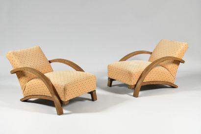 TRAVAIL DES ANNEES 1930 Paire de fauteuils...