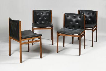 GALERIE ROBERT SENTOU Suite de quatre chaises...