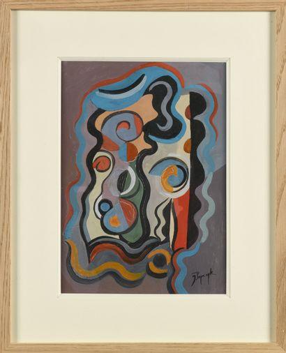 JOZEF POPCZYK (1890-1971) Sans titre Gouache...