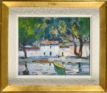 DIONIS BENNASSAR (1905-1967) Sans titre (Village...