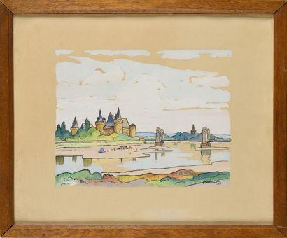 GASTON BALANDE (1880-1971) Le château de...