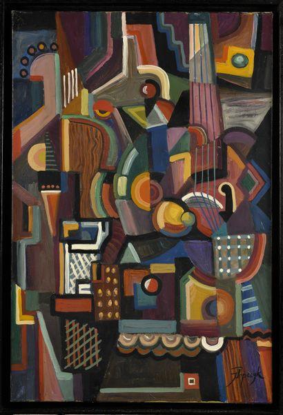 JOZEF POPCZYK (1890-1971) Sans titre (Composition...