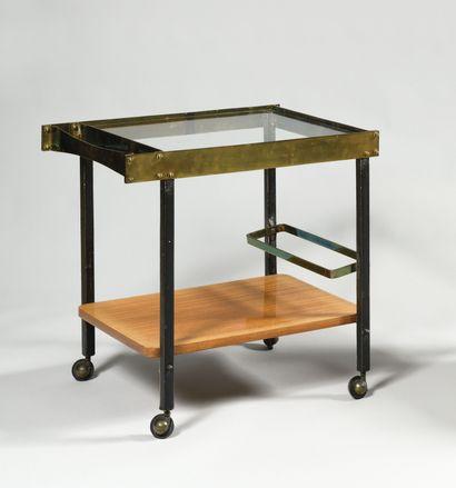 MATHIEU MATEGOT (1910-2001) Table roulante...