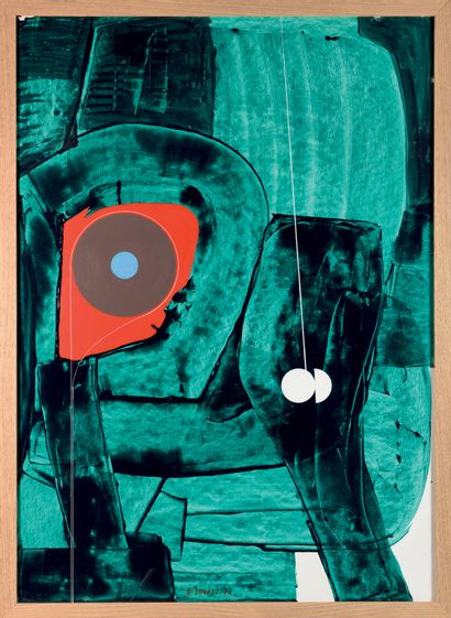 XAVIER ZEVACO (1925-2004) Sans titre Acrylique...