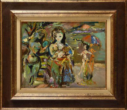 LUDOVIC KLIMEK (1912-1992) Mère et enfant...