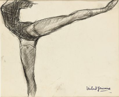 HUBERT YENCESSE (1900-1987) Etude de danseuse...