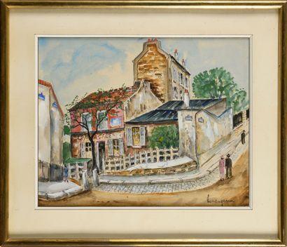 LUCIEN GENIN (1894-1953) Le cabaret « Le...