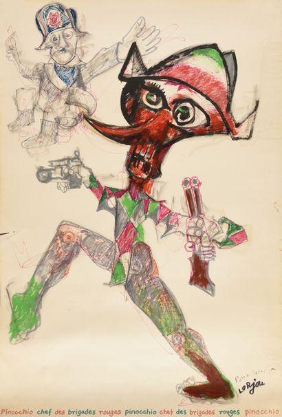 BERNARD LORJOU (1908-1986) Pinocchio, chef...