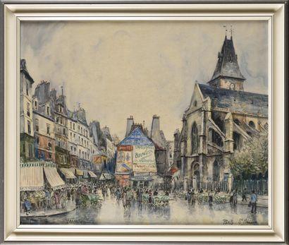 FRANK-WILL (1900-1951) Paris, Saint Médard...