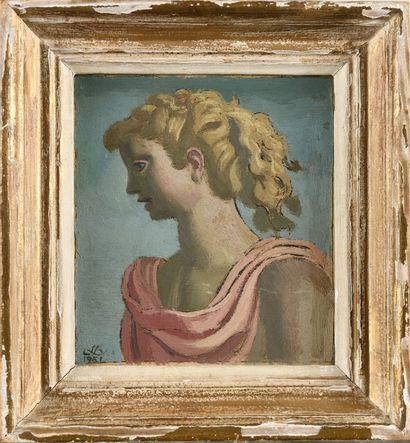 JEAN DUPAS (1882-1964) Portrait de femme...