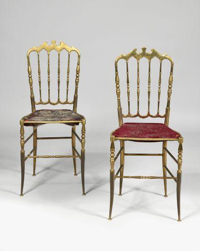 CHIAVARI Chiavarina Paire de chaises en métal...