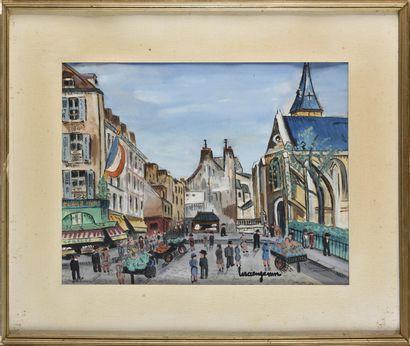 LUCIEN GENIN (1894-1953) Paris, l'église...
