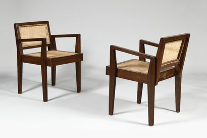 PIERRE JEANNERET (1896-1967) Take Down chairs...