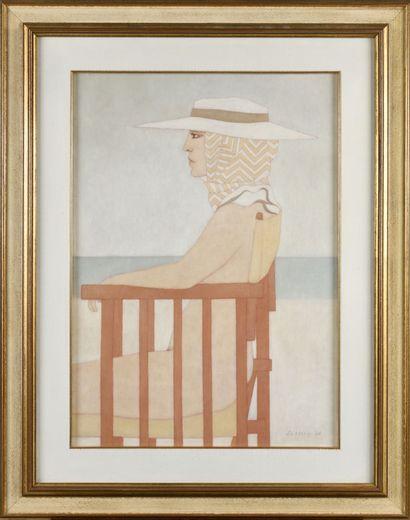 ALDO ANDREOLO (NÉ EN 1926) Sfinge Huile sur...