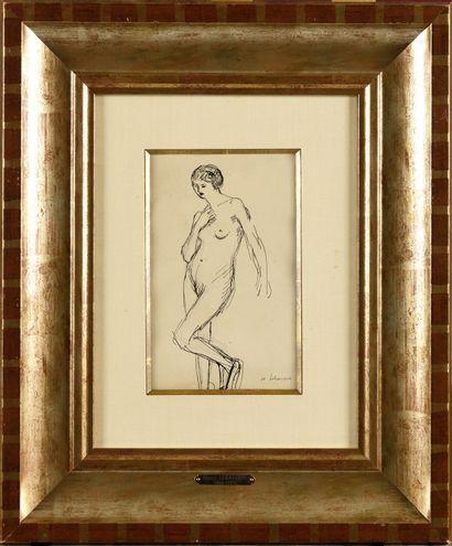 HENRI LEBASQUE (1865-1937) Etude de modèle...