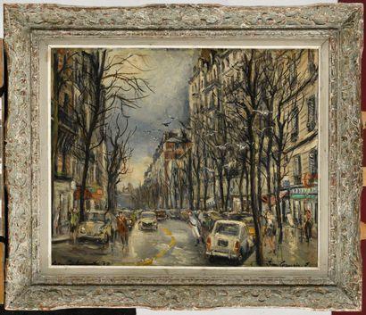 JEAN GERMAIN-JACOB (1900-?) Vue de Paris...