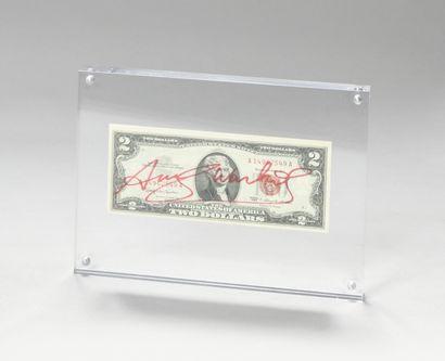 ANDY WARHOL (1928-1987) Billet de 2$ Jefferson,...