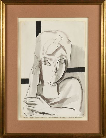 FRANÇOISE GILOT (Née en 1921) Autoportrait...