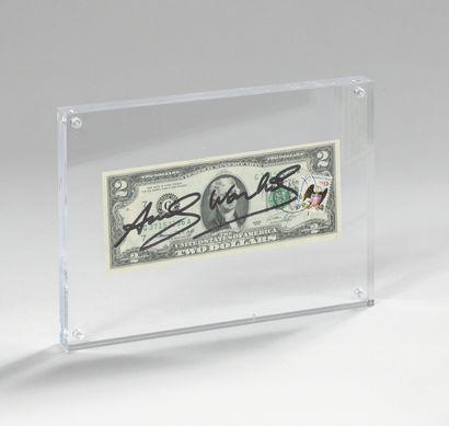 ANDY WARHOL (1928-1987) Billet de 2$ Jefferson, 1976, N°G 37153236 A Signé au feutre...