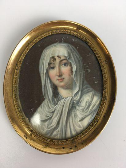 ECOLE FRANCAISE Vers 1800 Portrait de Dame...