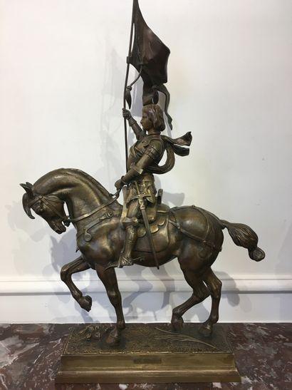 Alfred BARYE (1839-1895) Jeanne d'Arc Bronze...