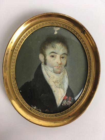 ECOLE FRANCAISE Vers 1800 Portrait en buste...