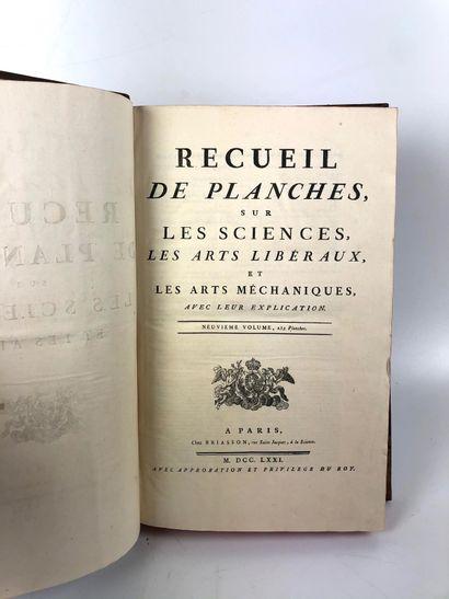 ENCYCLOPEDIE DIDEROT et D'ALEMBERT Recueil...