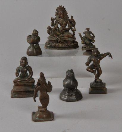 NEPAL, INDE, BIRMANIE, XIXe-XXe siècle Lot...