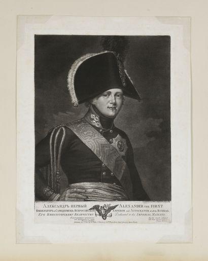 ALEXANDRE I.  Portrait. Gravure. XIXe siècle....