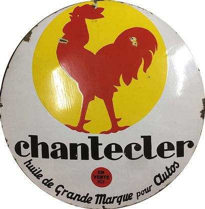 PLAQUE EMAILLEE CHANTECLER