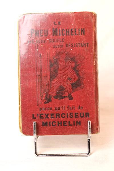 GUIDE MICHELIN 1901 Exemplaire de la seconde édition du célèbre guide rouge Michelin...