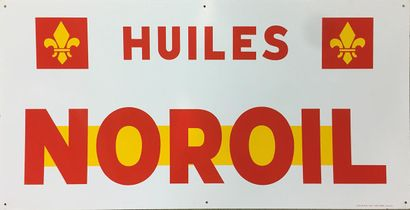 PLAQUE EMAILLEE HUILES NOROIL ET PLAQUE EMAILLEE GASOIL