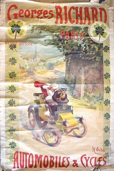 HENRI BEHEL (XIX-XXÈME SIÈCLES) - CYCLES ET AUTOMOBILES GEORGES RICHARD