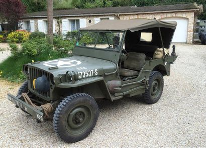 1944 JEEP WILLYS MB Serial number 346615 Known history French collection title This...
