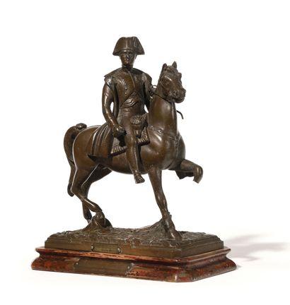 L'Empereur Napoléon Ier à cheval par Auguste...