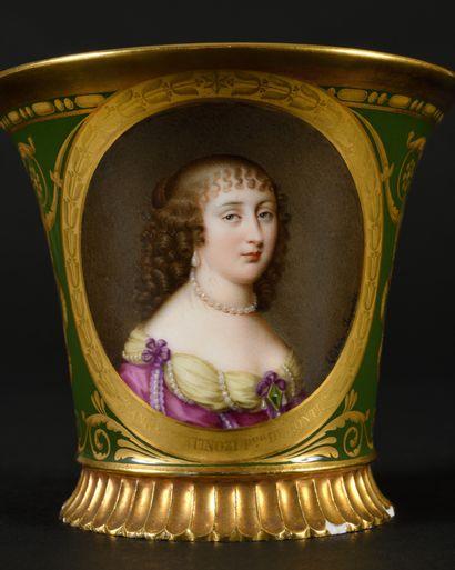 Sèvres Cabaret porcelain named Cabaret des femmes célèbres with polychrome decoration...