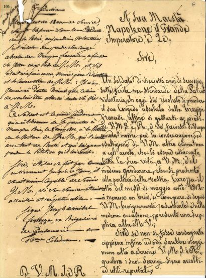 NAPOLÉON Ier. – Apostille autographe signée...