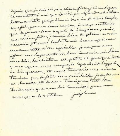 JOSÉPHINE (Impératrice). Lettre autographe...