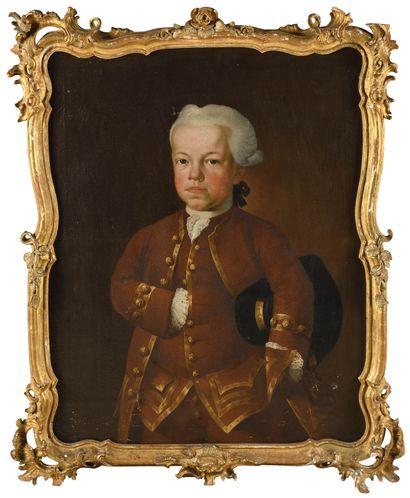 ECOLE ALLEMANDE VERS 1760 Portrait de jeune...