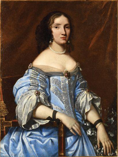 ECOLE HOLLANDAISE VERS 1650 Portrait de femme...