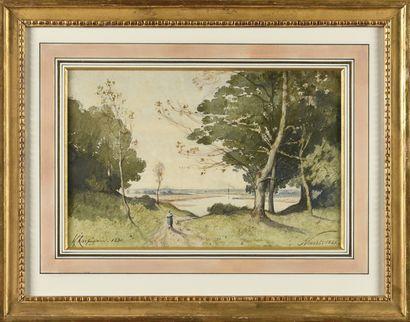 Henri Joseph HARPIGNIES (1819-1916) La Loire...