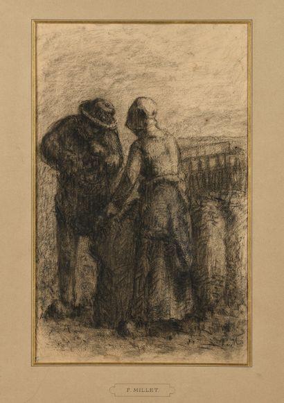 François MILLET (1851-1917) Couple de paysans...